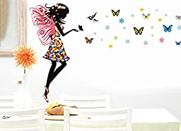 DIY Wall Quote Decor Art Decal Sticker Removable - Butterfly Elf (Model:301,37*59 Inches)