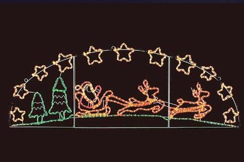 クリスマス イルミネーション トナカイ&ソリ 壁掛け クリスマス イルミ ピクチャーモチーフ 2D