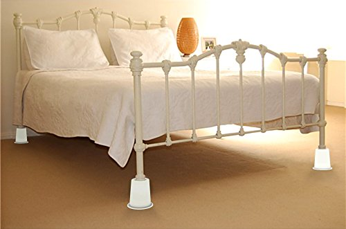 Furniture Risers 2000 Pound Capacity 6 Inches Bed Risers White Lifts Set Of 4 Sofa Accessories