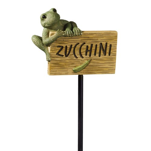 Grasslands Road Frog Figurine Zucchini Garden Marker, 27-Inch, Set Of 3 back-965750