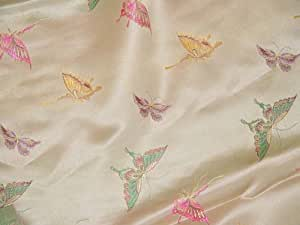Chinese Brocade Satin Fabric (Butterfly)