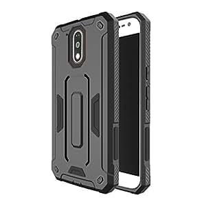 TARKAN Super Armor [SHOCKPROOF] Back Case Cover For Moto G4 / G4 Plus [4th Gen] [Black]