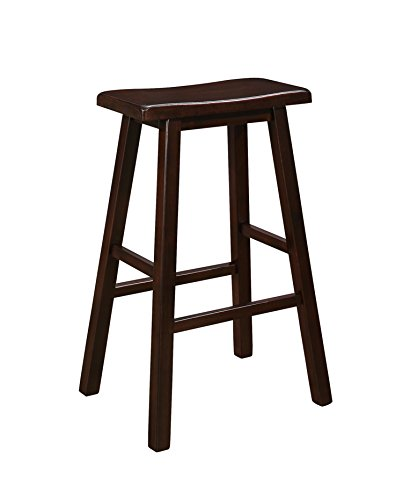 Naomi Home Longmont Wooden Saddle Stool Cappuccino/29