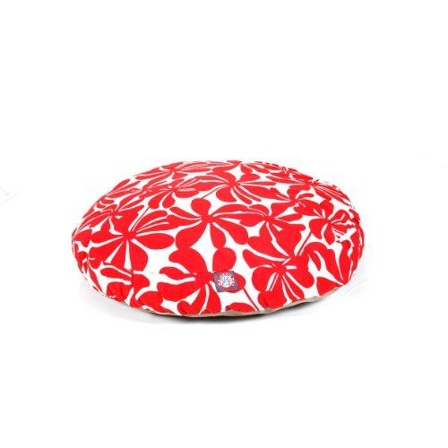 Fabulous Majestic Pet Red Plantation Round Pet Bed Medium Creativecarmelina Interior Chair Design Creativecarmelinacom