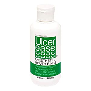 Ulcer Ease Anesthetic Mouth Rinse, 6 fl oz (178 ml)