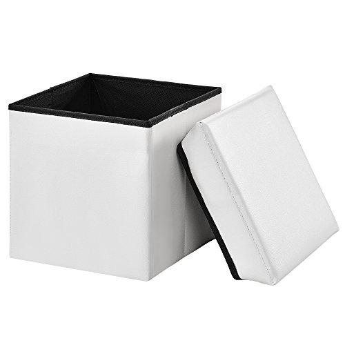 encasa-Faltbarer-Sitzhocker-30-x-30-x-30-cmwei-zugleich-Aufbewahrungsbox-Gre-M