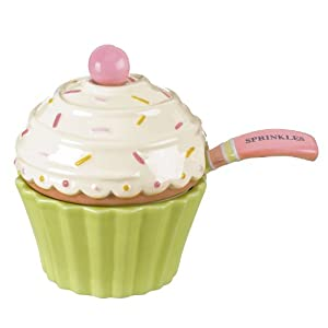 "Grasslands Road Sweet Soiree 3-1/2-Inch by 4-1/2-Inch ""Sprinkles"" Covered Cupcake Bowl with Spoon"