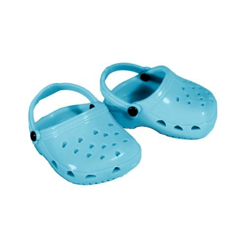18 Inch Doll Shoes, Aquamarine Polliwog Sandals, Fits 18 Inch Dolls Like American Girl and More! Aqua Polliwogs - 1