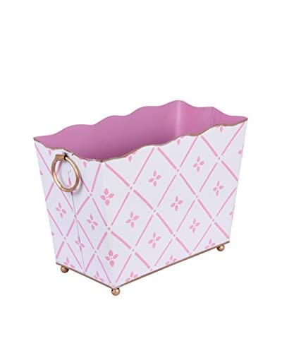 Jayes Flora Rectangular Magazine Holder, Pink