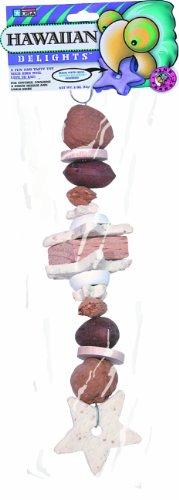 "Pink Parrot® Hawaiian Delights® 10"" Hanging Cookies, Blocks & Natural Nut Treat for Med/Lg Birds"