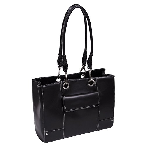 Mcklein USA Serena Ultra-Smooth High-Gloss Faux Leather Laptop Bag