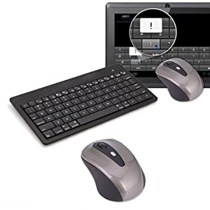 HDE Wireless Bluetooth Mouse & Rechargeable Keyboard for Google Android 3.1+