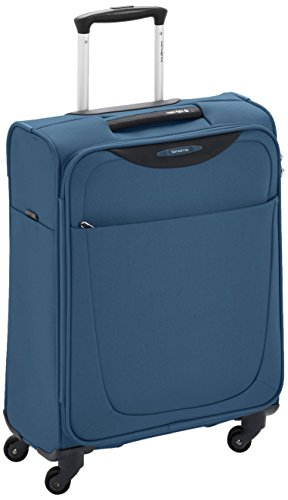 Samsonite Base Hits Spinner 55/20 Bagaglio a Mano, Poliestere, Steel Blue, 39 ml, 55 cm