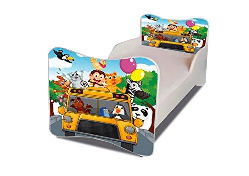 Lit enfant Zoo bus sommier+matelas 160 x 80 cm