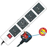 GATTS-MX 4 SOCKETS POWER STRIP - 5 MTR POWER CORD WITH FUSE - 5 AMP - UNIVERSAL SOCKETS