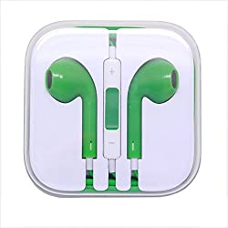 KARP Fancy Earpods for Apple iOS Compatible Devices With Mic - Green Color