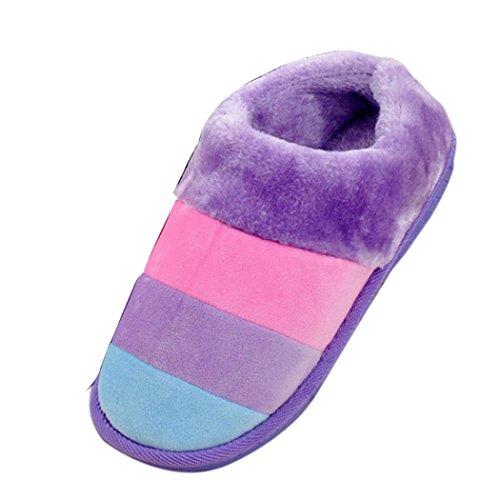 Femmes Souple Chaussons, Reaso Dames Chaussures Accueil Floor Femelle Coton rembourré shoes