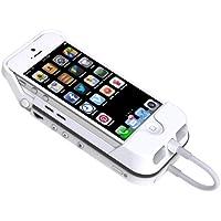 Aiptek MobileCinema i55 Mobile DLP Pico Projektor (VGA, Kontrast 1000:1, 50 ANSI Lumen, HDMI, Batterie Pack) f�r Apple iPhone 5 und iPhone 5S, wei�
