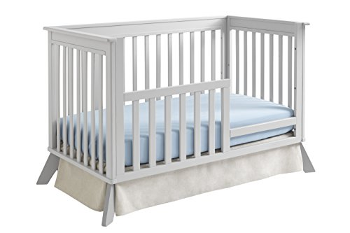 Sealy 3-in-1 Bella Standard Toddler Rail Conversion Kit, Tranquility Gray