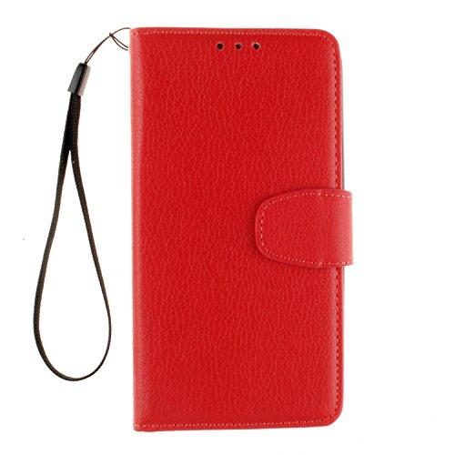 Cozy Hut LG G4 mini Bookstyle Étui rouge Housse en Cuir Case à rabat pour LG G4 mini Coque de protection Portefeuille TPU Case - rouge