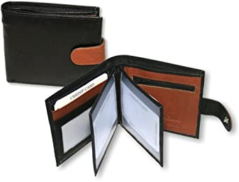 Real Leather Mens Wallet by Ashford Ridge