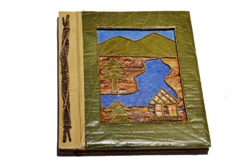 Handmade Mountain River and Cabin Photo Album- Holds 40 Photos