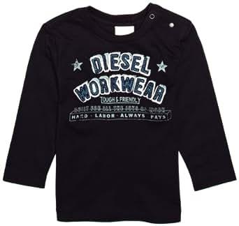 Diesel Baby Boys' Tantonb Long Sleeve T Shirt, Blue, 12 Months