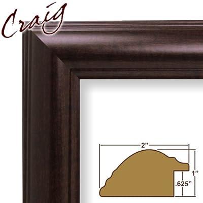10x33 Custom Picture Frame / Poster Frame 2 Wide Complete Brazilian Walnut Frame (88036)
