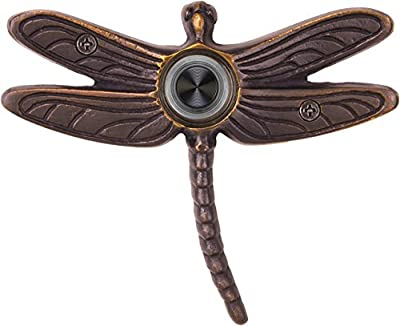 Waterwood WW019ORB Solid Brass Summer Dragonfly Doorbell, Oil Rubbed Bronze