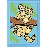 Ravensburger 29521 - Tigerbaby - Malen nach Zahlen, 8,5x12 cm