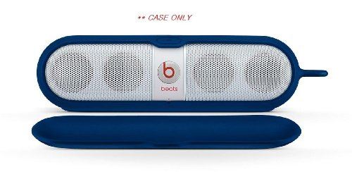 Brand New Beats By Dr. Dre | Reliable Protection Silicone Cover For Pill Speakers, Beats Pill Sleeve With Detacherble Magnetic Cover And Aluminum Ring (Blue 905-00020-00)