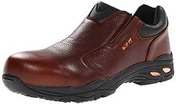 Thorogood Men\'s Slip On Safety Toe Work Shoe, Brown, 10.5 M US