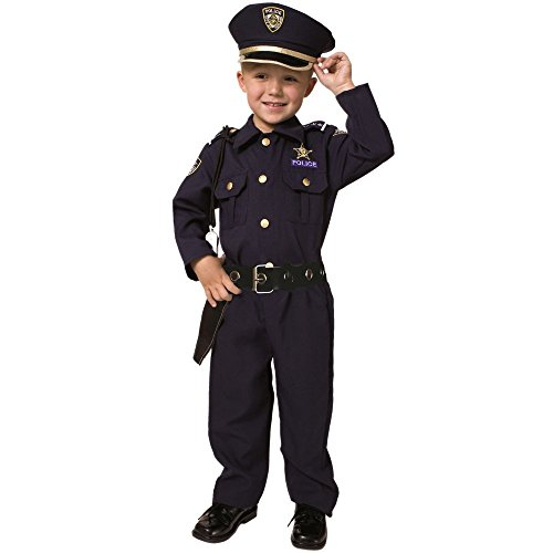Deluxe Police Dress Up Costume Set - Small 4-6 (Small Wonders Baby Clothes compare prices)