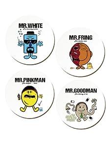 Set de 4 Sous-verres Mr.White inspiré par Breaking Bad