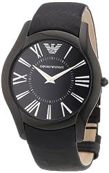 Emporio Armani Men's AR2059 Sportivo Black Dial and Strap Watch