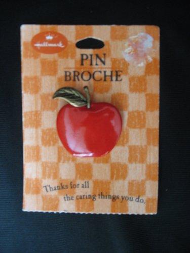 Hallmark Apple Pin Brooch