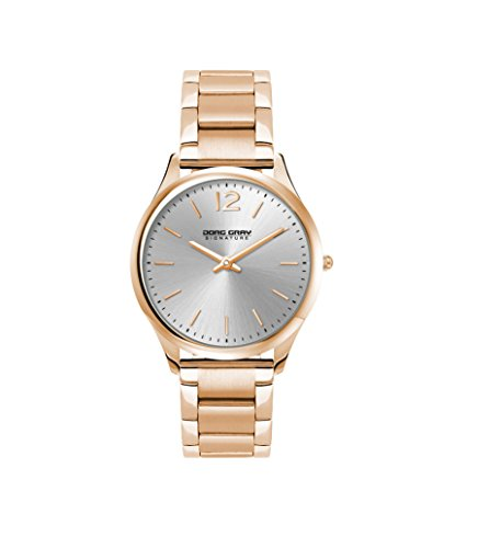 Jorg Gray Signature Collection Women's Quartz Watch with White Dial Analogue Display and Stainless Steel Gold Plated Bracelet JGS2561B
