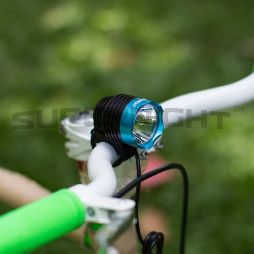 Supernight(Tm) Cree Xml T6 Led Blue Bike Headlight Headlamp Bicycle Light With Rechargeable 4400Mah Battery, 900 Lm, Waterproof(Ip66), For Cycling, Riding, Hunting, Camping, Traveling, Hiking, Caving, Climbing (Black+Blue)
