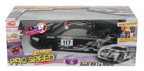 Dickie Spielzeug 201119356 - RC Audi R8 24H Nürburgring LeMansSeries, 2-Kanal Funkfernsteuerung, 27 oder 40 MHz (sortiert), Maßstab 1:10, schwarz