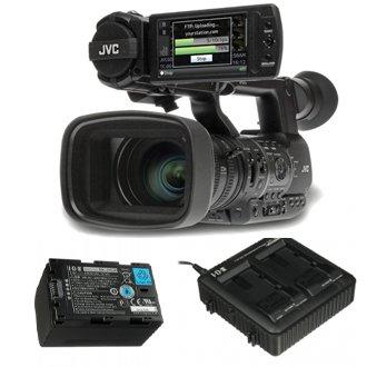 Kit Jvc Camcorder Gy-Hm600E + 2 Lithium-Ion Battery Ssl Jvc50 - Idx + 1 Dual Charger Lc-2J - Idx