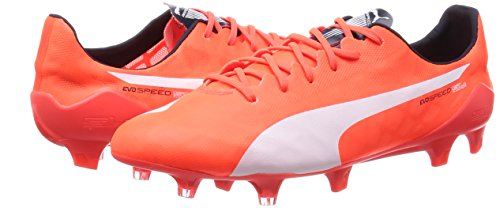 Puma evoSPEED SL FG, Herren Fußballschuhe, Orange (lava blast-white-total eclipse 01), 45 EU (10.5 Herren UK) -