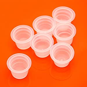 Wholesale Package Bag of 1000 White Ink Cup Holders (Large)