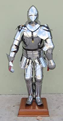 Handtooled Handcrafted Gothic Suit Of Armor