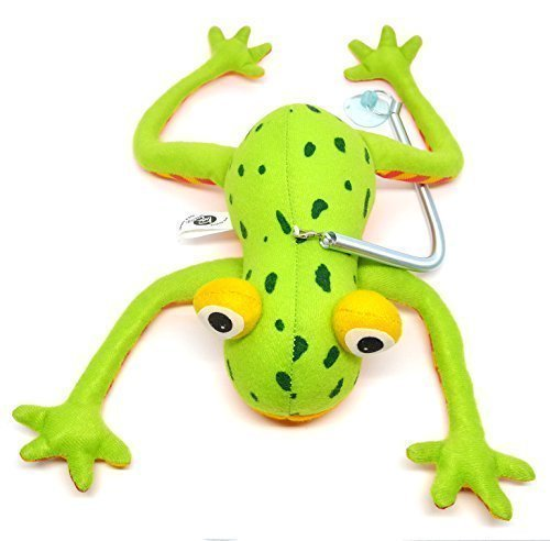 Funny Green Frog Bouncing Up 'n Down Hanging Plush Doll Toy (Robin Outfit For Babies)