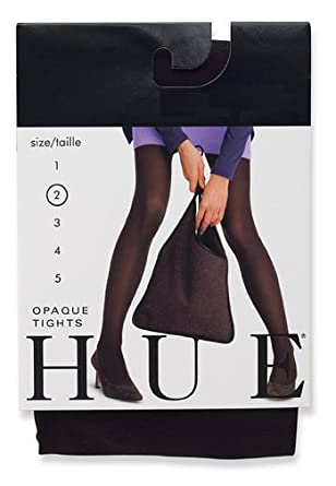 HUE Women's Opaque Sheer to Waist Opaque Tight, Navy1