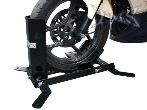 TMS 1000 lb Heavy Duty Adjustable Motorcycle Trailer Wheel Chock Bike Stand Mount