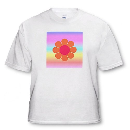 Retro 70s Flower - Youth T-Shirt Small(6-8)