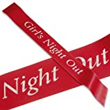 Deluxe Red Girls Night out Sash with diamanties