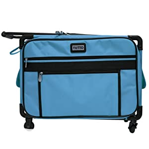 "Tutto 20"" Medium Sewing Machine Bag on Wheels (Turquoise) by Tutto"