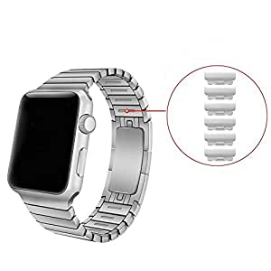 Pinhen Apple Watch Band,removable Quick Release Watch Band Stainless Steel Watch Strap Bracelet Replacement for Apple Watch Iwatch(removable 38mm Silver)